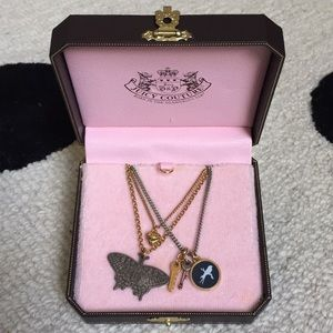 Juicy Couture Layered Necklace with Charms